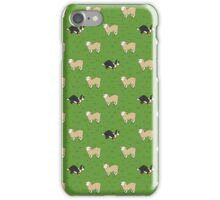 Come Bye - Tri-color dog and white sheep iPhone Case/Skin