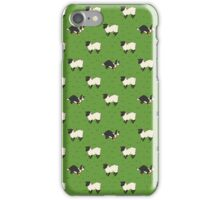 Come Bye - Tri-color dog and black sheep iPhone Case/Skin