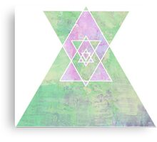 Soft colours Triangle Canvas Print
