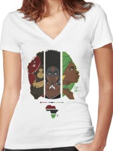 RBG - The Blood, The People, The Life Women's Fitted V-Neck T-Shirt
