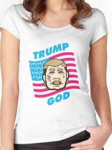 Trump God Women's Fitted Scoop T-Shirt
