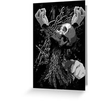 Pit Fighter Skull Chain MMA Mixed Martial Art  Greeting Card