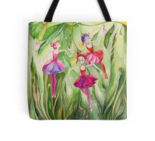 Fuchsia dancers Tote Bag