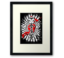 Japanese Fighter Skull Martial Arts Karate Samurai Bushido shirt Framed Print