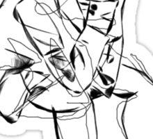 Hand drawn movement sketch, Peter Doherty Sticker