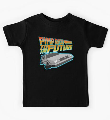 Pimp Ridin' to the Future Kids Tee