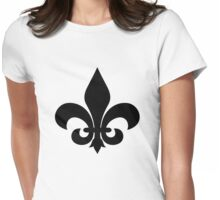 French Fleur-de-lis in Black  Womens Fitted T-Shirt