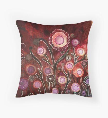 """""""Enchanted Garden"""" - Unique Original Artist's Design Throw Pillow"""