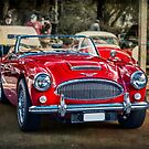 Red Austin Healey 3000 MkIII by Stuart Row