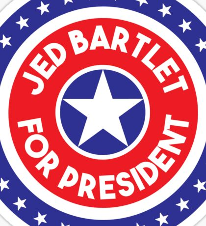 Re-Elect  Jed Bartlet - Ring of Stars Sticker