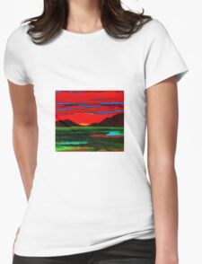 sunset 2 Womens Fitted T-Shirt