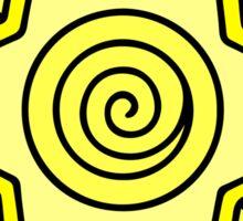 Sun Star Circle Geometric Hippie Design Sticker