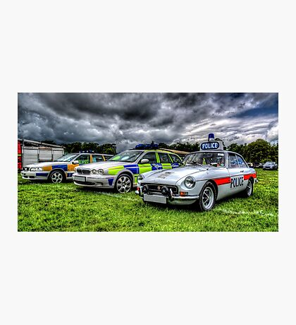 HDR Police Cars Photographic Print