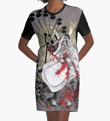 Hysteria in Rust Graphic T-Shirt Dress