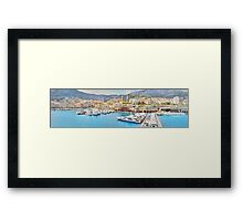 Sailing into Monte Carlo Framed Print