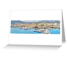 Sailing into Monte Carlo Greeting Card