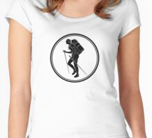 Womens Backpacking Women's Fitted Scoop T-Shirt