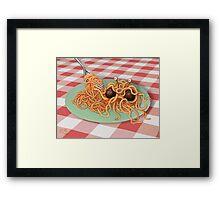 The Rise of the Spaghetti Monster Framed Print
