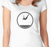 Womens Diving Women's Fitted Scoop T-Shirt