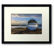 Blue Glass Ball Framed Print