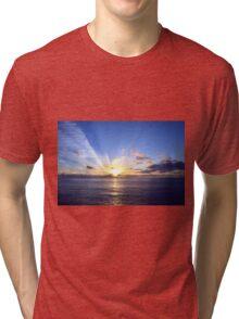 Sunset at Sea Tri-blend T-Shirt