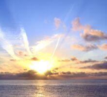 Sunset at Sea Sticker