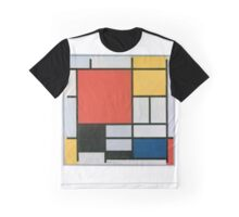Piet Mondriaan - Composition II in Red Blue en Yellow Graphic T-Shirt