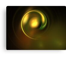 Metal Green Disk Canvas Print
