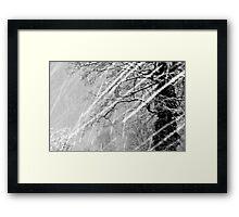 Snow Trails Framed Print