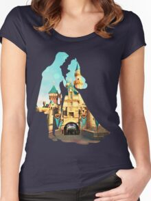 Princess Character Inspired Home Women's Fitted Scoop T-Shirt
