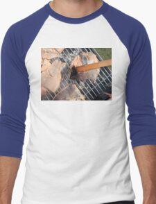 Fresh pork meat with vegetables Men's Baseball ¾ T-Shirt