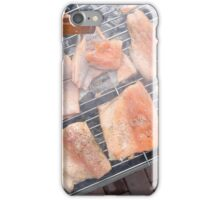 Grilled salmon steaks  iPhone Case/Skin