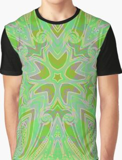 Rainy Day Green Mandala Graphic T-Shirt