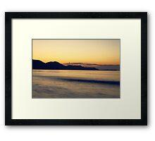 Sunrise at Zakynthos Island beach Framed Print