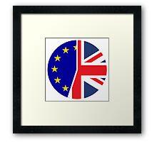 UK and EU Referendum Framed Print