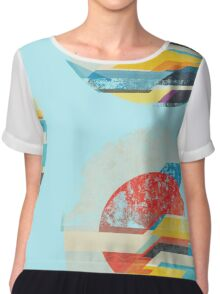 Digital Sun Horizon  Chiffon Top