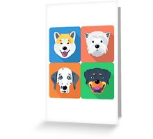 dog icon flat design  Greeting Card