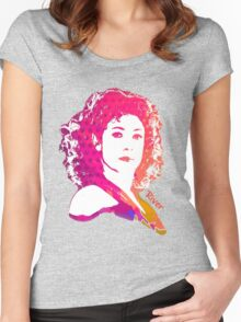 River Song Doctor Who Pop Art Women's Fitted Scoop T-Shirt