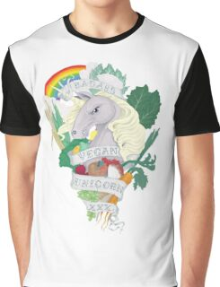 Vegan Unicorn Graphic T-Shirt