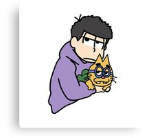 Ichimatsu with ESP kitty Canvas Print