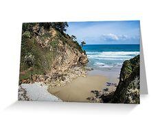 Idyllic little sand beach Greeting Card
