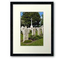 Anzac War Graves, Sutton Veny, Wiltshire, UK Framed Print
