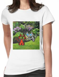 Cats In The Garden Womens Fitted T-Shirt
