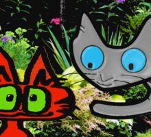 Cats In The Garden Sticker