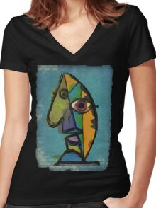 picasso graffiti # 7 Women's Fitted V-Neck T-Shirt
