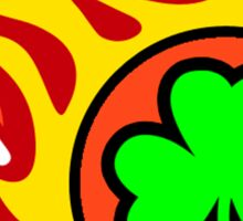 Irish Shamrock On Fire Sticker