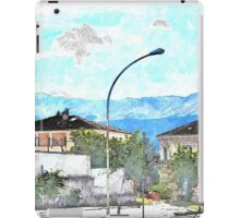 L'Aquila: buildings and mountains iPad Case/Skin