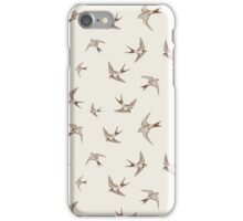Vintage Swallows iPhone Case/Skin
