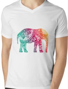 Warm Elephant Mens V-Neck T-Shirt