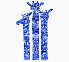 Navy Giraffes Unisex T-Shirt